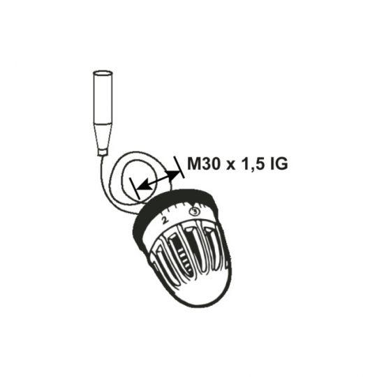 Cap termostatat cu capilar 6 trepte Cornat M30 x 1.5