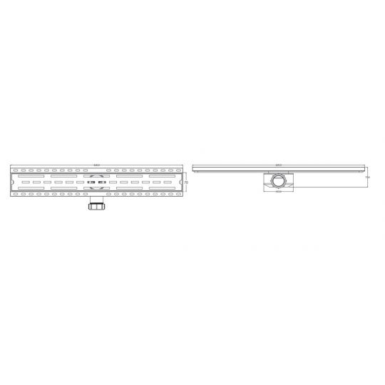 Rigola dus PVC, Gehler cu gratar inox ,600x70 mm, 1 1/2 mm