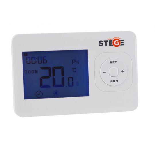 Termostat programabil, cu fir, LCD, iluminare LED, Stege HT200