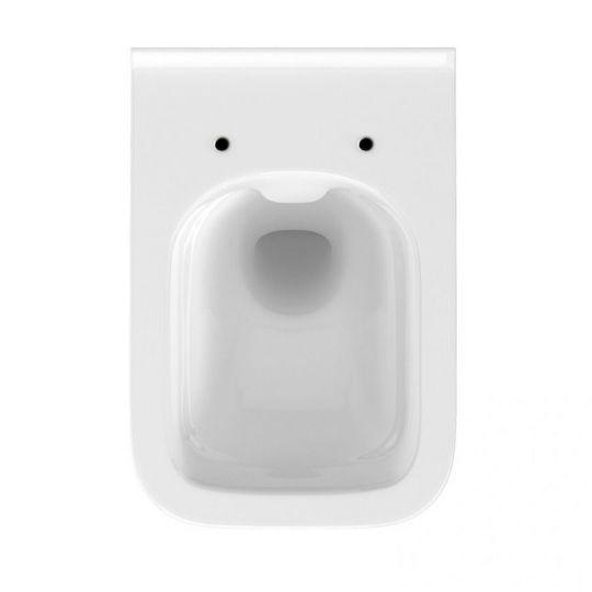 Set B26 Cersanit rezervor incastrat + buton Accento Square, crom lucios + vas WC Crea Rectangular + Capac cadere lenta
