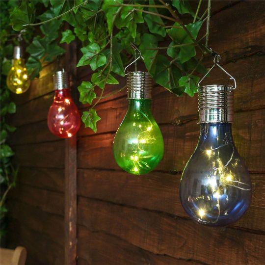 Lampa gradina solara, LED, Ultron, Rosu Erste
