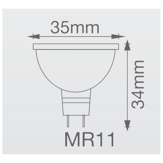 Bec halogen Spot MR11 35W, GU4, 12V, lumina calda 2800K, Vito
