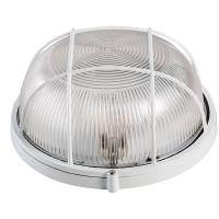 Lampa de exterior rotunda cu grila, 100W, Alb, BAT Novelite
