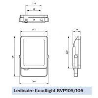 Proiector LED Philips Ledinaire, 50W, lumina neutra 4000 K