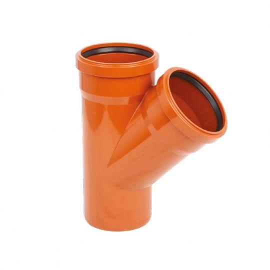 Ramificatie 250x160, 45 grade PVC