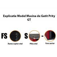 Masina de gatit din otel Prity GTFSS, 15 kW, rama cuptor otel, plita otel, fara sertar, culoare Bordo