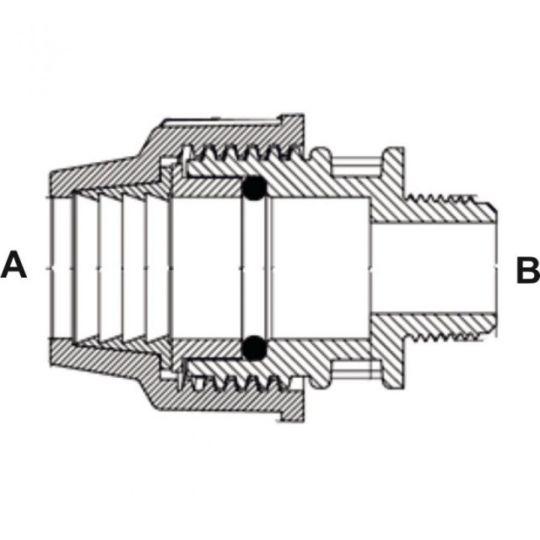 Adaptor FE 32-1 PEHD