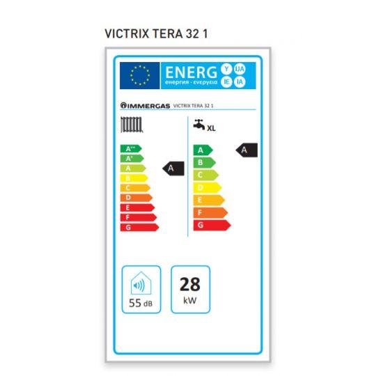 Centrala termica in condensare Immergas VICTRIX TERA 32 1, incalzire+ACM, 28 kW, clasa A, kit evacuare inclus