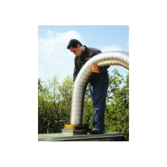 Tub flexibil din inox 130 mm, 3 metri