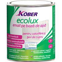 Vopsea pentru calorifere si tevi de cupru ECOLUX alb stralucitor 0.75 l Kober