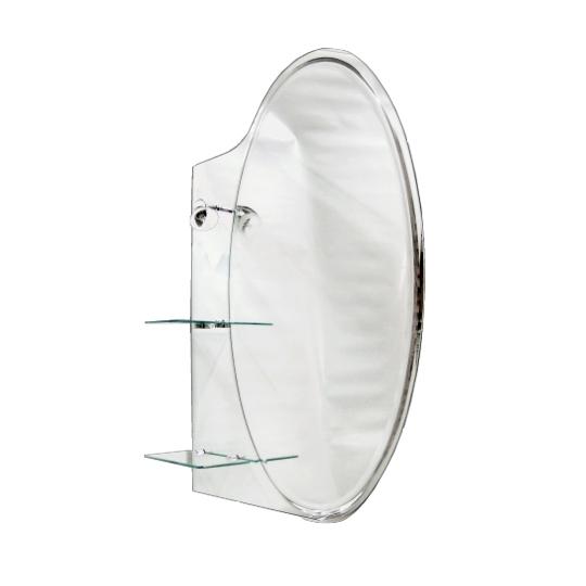 Oglinda de baie 90x70 cm cu etajera si lampa