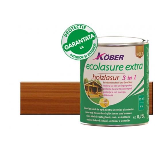 Lac pe baza de apa Ecolasure Extra stejar inchis 0.75 l Kober