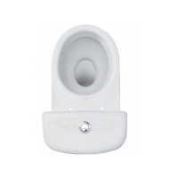 Set vas WC set compact iesire laterala Eko 2000 Cersanit + capac WC Roma Cersanit