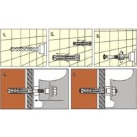 Set fixare lavoar M12x100 Wkret-Met