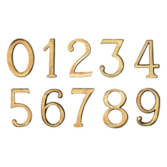 Cifre autoadezive 55x35 mm plastic