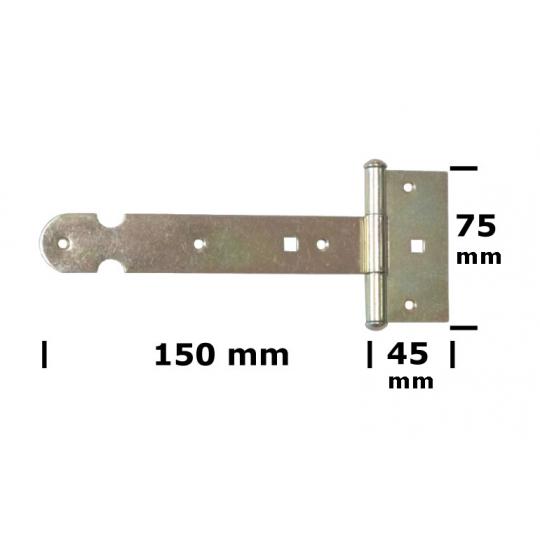 Balama poarta tip T 150x2 mm Everpro