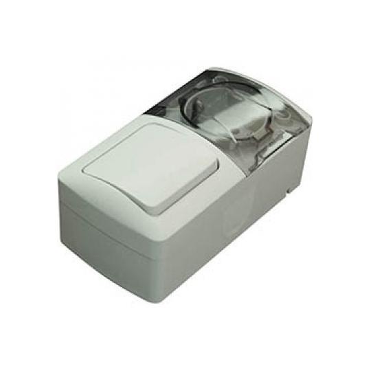 Modul Intrerupator+Priza cu C.P. cu capac PT Eva IP54