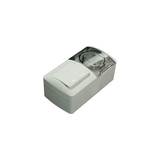 Modul Comutator cu led+Priza cu C.P. cu capac PT Eva IP54