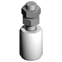 Rola nylon de ghidare pentru porti glisante 40x42 mm