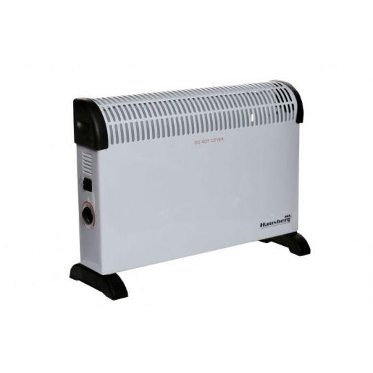 Convector electric Hausberg HB-8201, 2000 W, 3 nivele de putere, termostat reglabil, cu ventilator