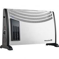 Convector electric Hausberg HB-8190, 2000 W, 3 nivele de putere, termostat reglabil, cu ventilator