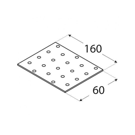 Placa perforata tip 1 60x160x2,0 mm