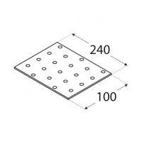 Placa perforata tip 1 100x240x2,0 mm