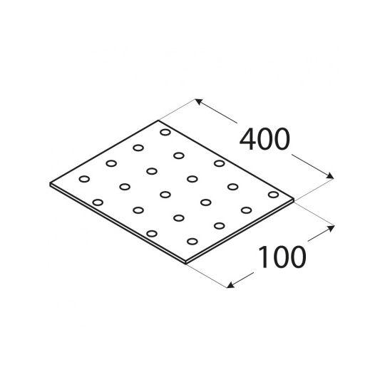 Placa perforata tip 1 100x400x2,0 mm