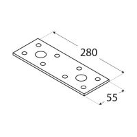 Placa perforata tip 3 35x200x2,5 mm