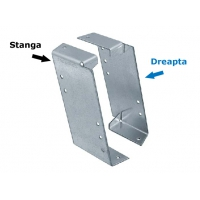 Placa diagonala pentru grinzi 180x30x90x2,0 mm Stanga