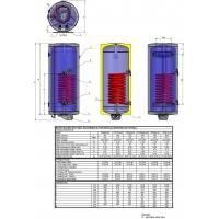 Boiler mixt cu serpentina Eldom , capacitate 200 l, 3 kW, pe perete, serpentina jos