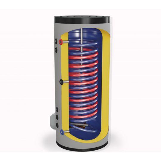 Boiler mixt cu 2 serpentine in paralel Eldom , capacitate 300 L, 9 kW, pe podea