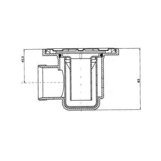 Sifon pardoseala baie 10x10 cm, evacuare 40 mm Styron