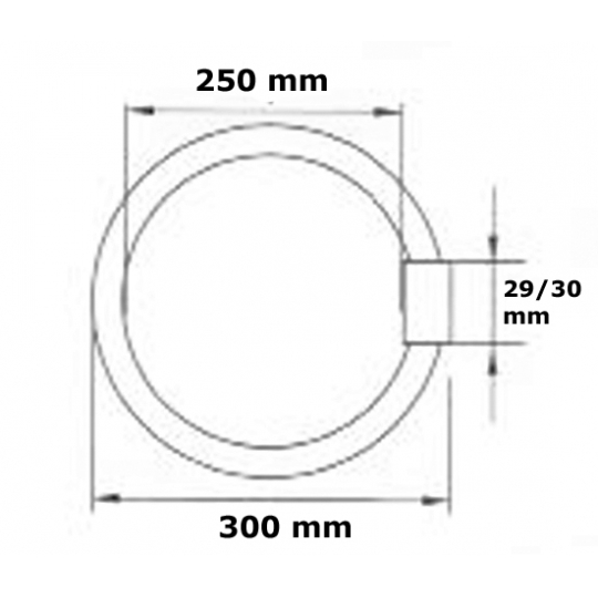 Tub neon circular 32W, lumina rece T9