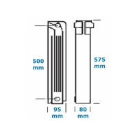 Calorifer aluminiu 500/80 Helyos