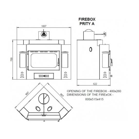 Focar otel Prity A 14kW