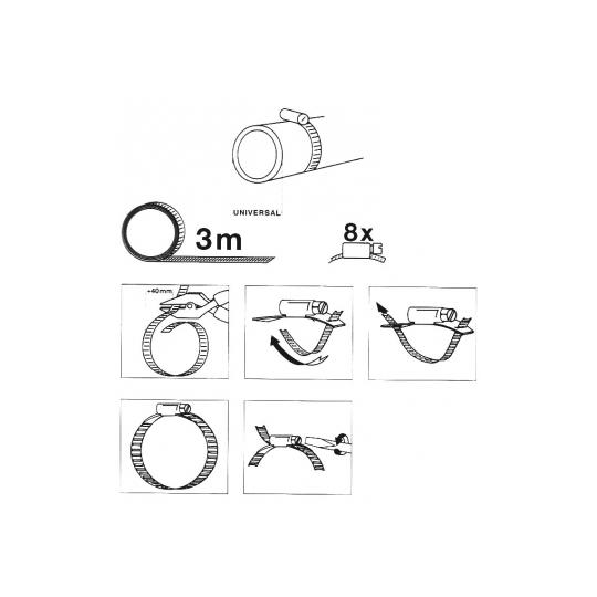 Banda inox pentru coliere metalice Meister