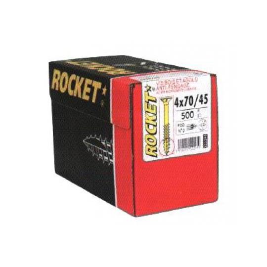 Surub Pal sau lemn cu varf crestat 4.5x60/40 Rocket - 500 buc