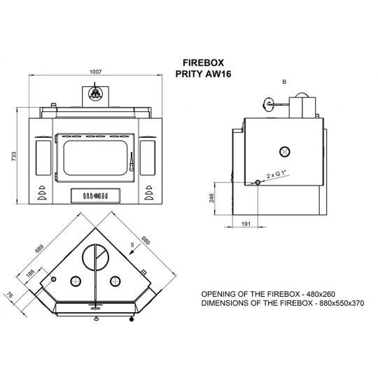 Termo focar Prity AW16 21kW