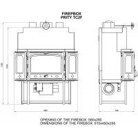 Focar cu ventilator Prity TC2F 20kW