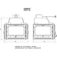 Focar otel Prity 3C 16kW, 3 fete