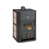 Termosemineu PRITY WD W24 23+6 kW laterale granit