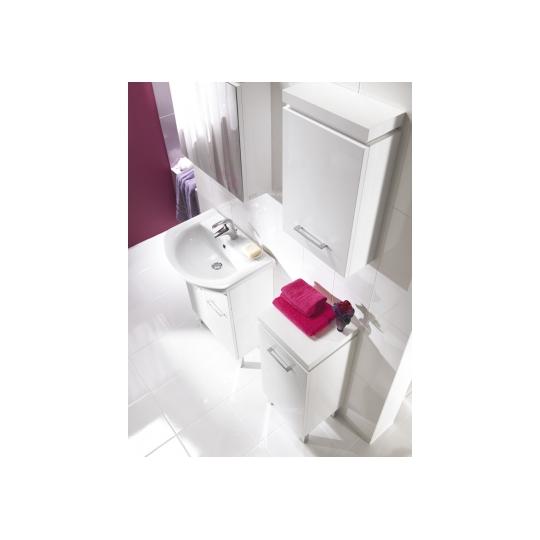 Dulap de baie Olivia, alb pentru lavoar Cersania NEW 60 Cersanit