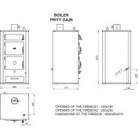 Cazan combustibil solid Prity GA26 26 kW