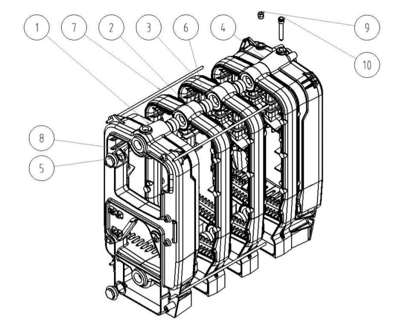 Cazan lemne Viadrus U22 D, 40 kW, 8 elementi fonta
