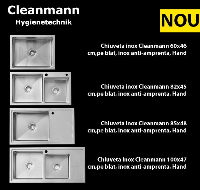 Noua gama de chiuvete inox Hand Made Tempo Meister de la Cleanmann