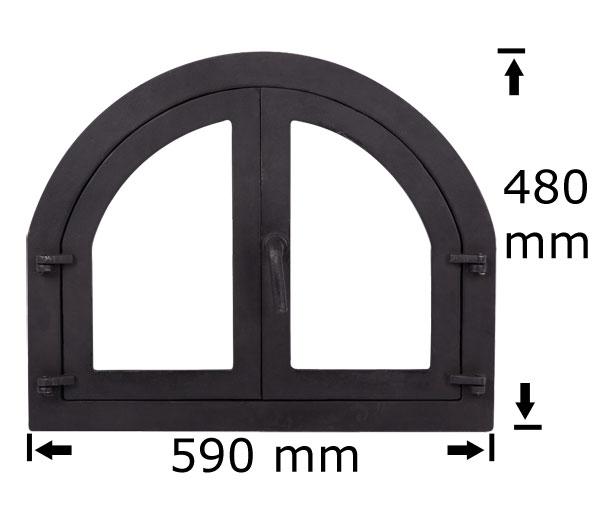 Usa cuptor cu geam 590x480 mm