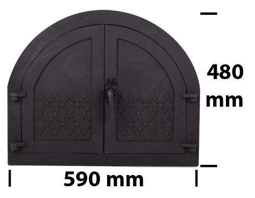 Usa cuptor plina 590x480 mm