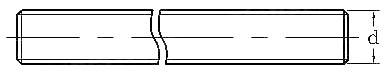 Tija filetata alama M8 1 m- DIN 976