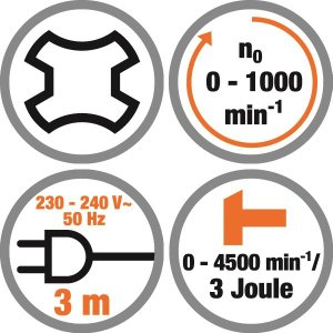Ciocan rotopercutor 1050 W, 4 functii Meister MPH1050-1, 1000 RPM, 3J, SDS + geanta depozitare